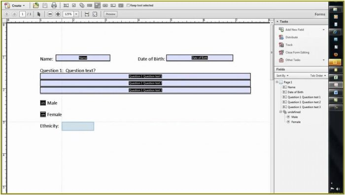 Create A Pdf Fillable Form From Word