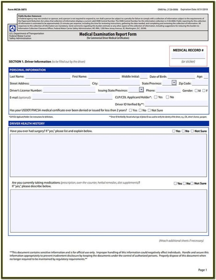 Dmv Dot Physical Forms Ca