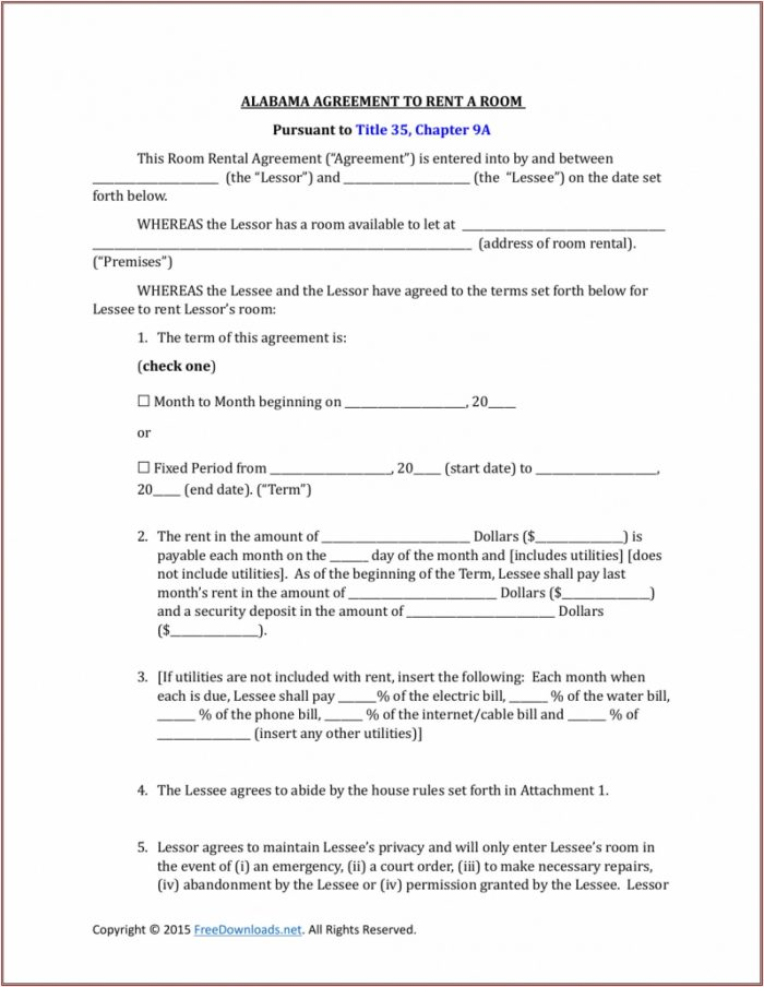 Farmland Rental Agreement Form