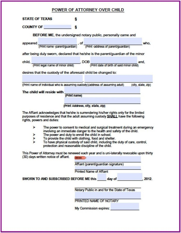 Forms For Guardianship Of A Minor Child In California