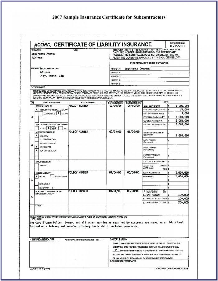 Free Acord Forms