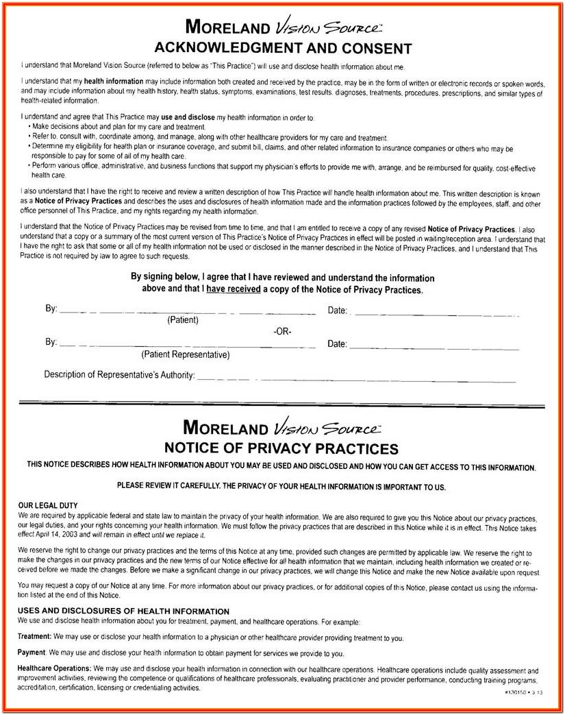 Hipaa Notice Of Privacy Practices Form Free