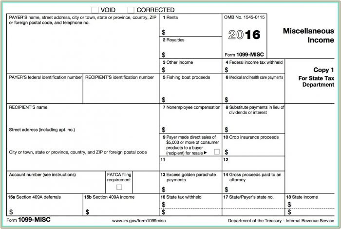 Independent Contractor Printable 1099 Form