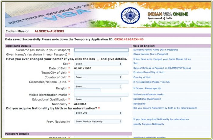 Indian Visa Application Form Download Uk