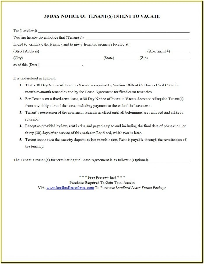 Landlord Lease Forms