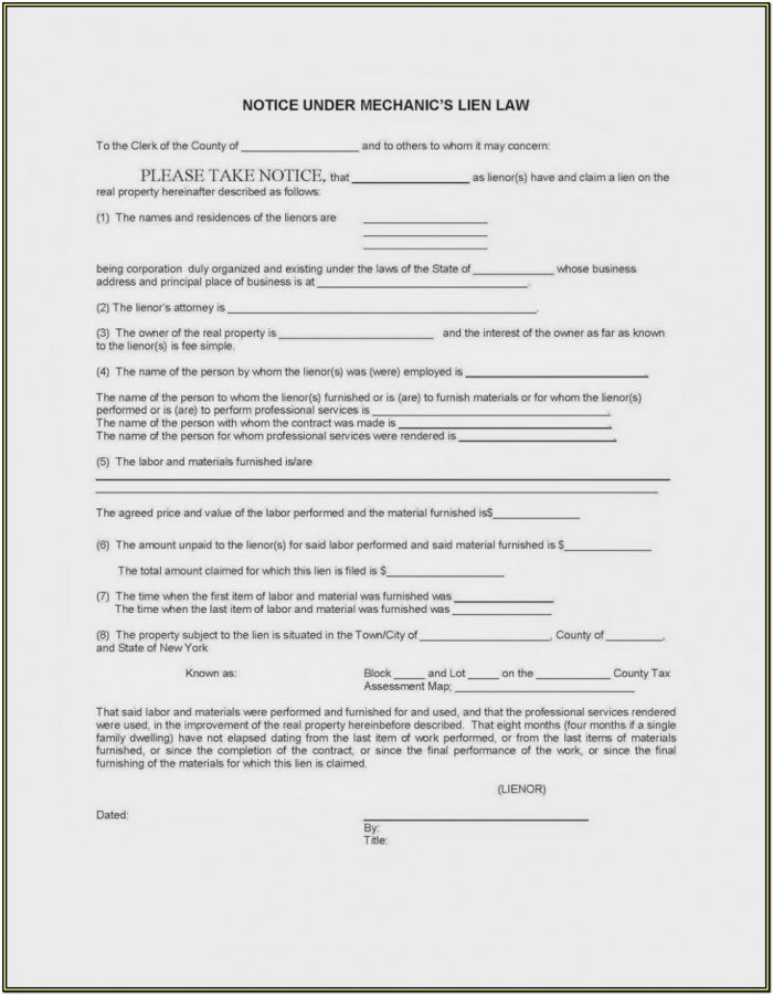 Mechanics Lien Waiver Form Mn