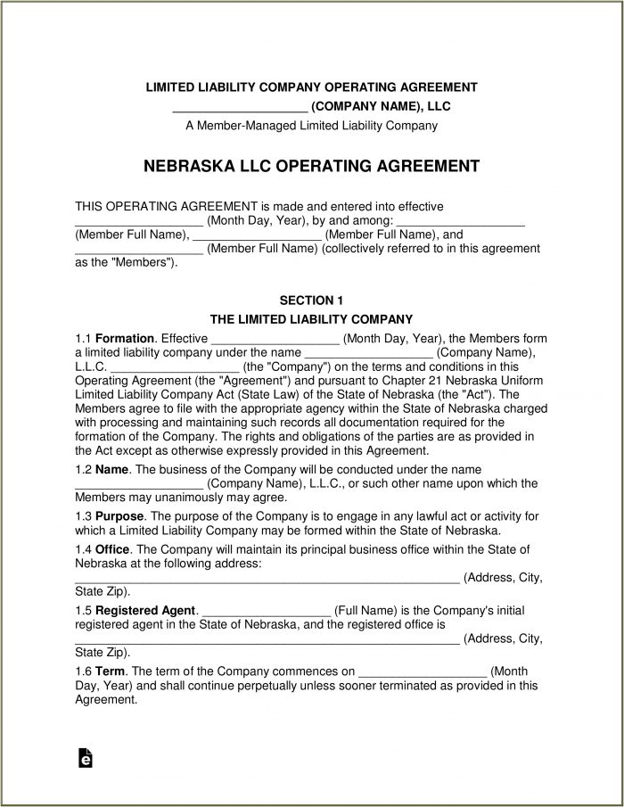 Nebraska Llc Forms
