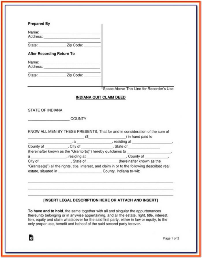 New York Quit Claim Deed Forms Free