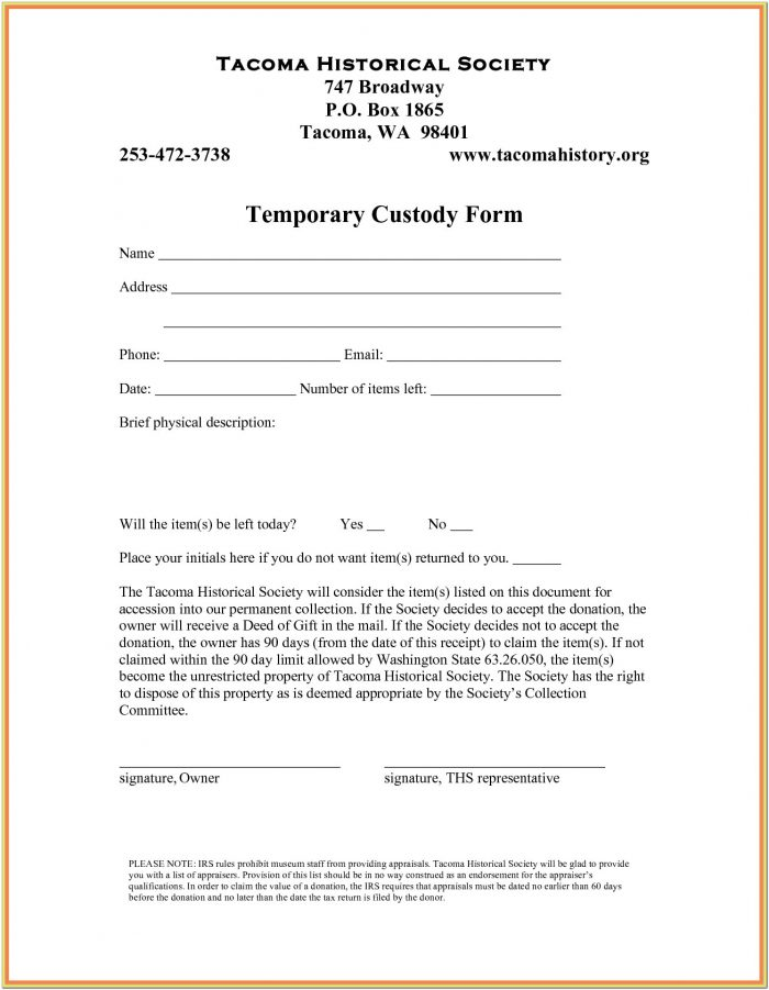 Parental Guardianship Form