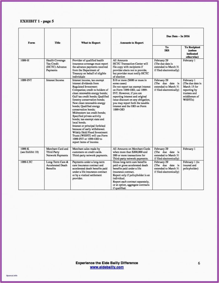Printable Independent Contractor 1099 Form