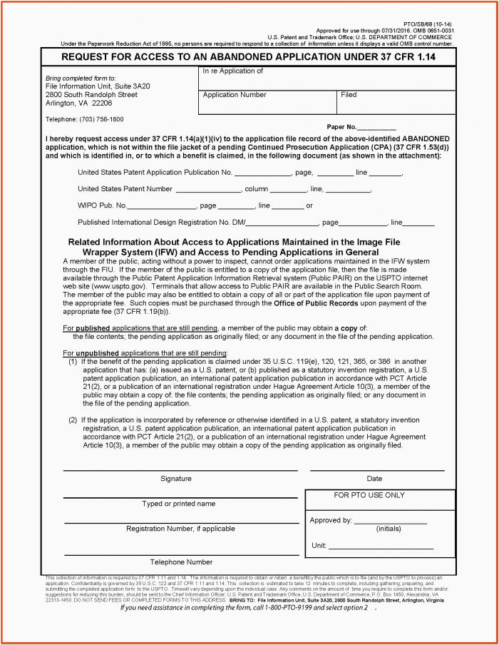 Provisional Patent Forms Download