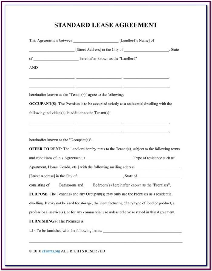 Residential Lease With Option To Purchase Form Texas