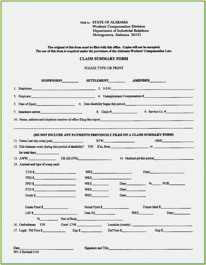 Texas Workers Comp Forms