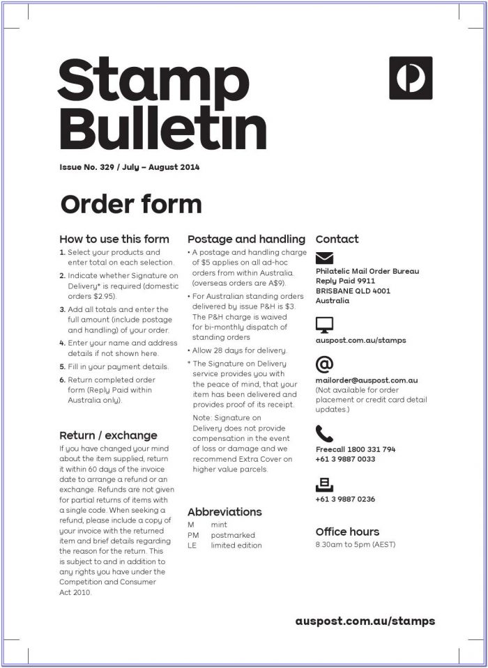 Usps Stamps By Mail Order Form 2019