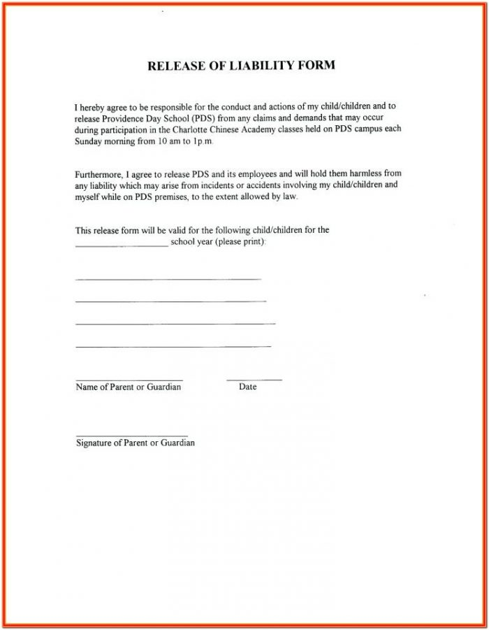 Yoga Waiver Form Template