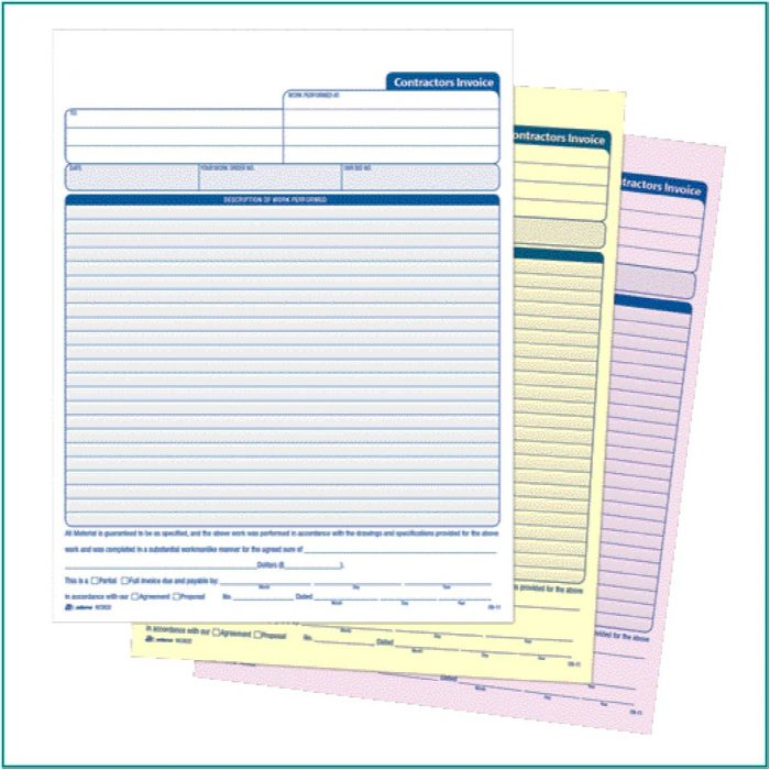 Carbonless Invoice Forms