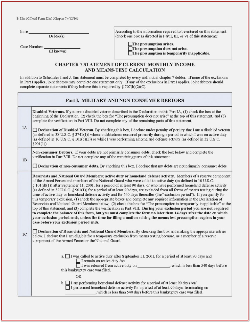 Chapter 7 Bankruptcy Forms Georgia