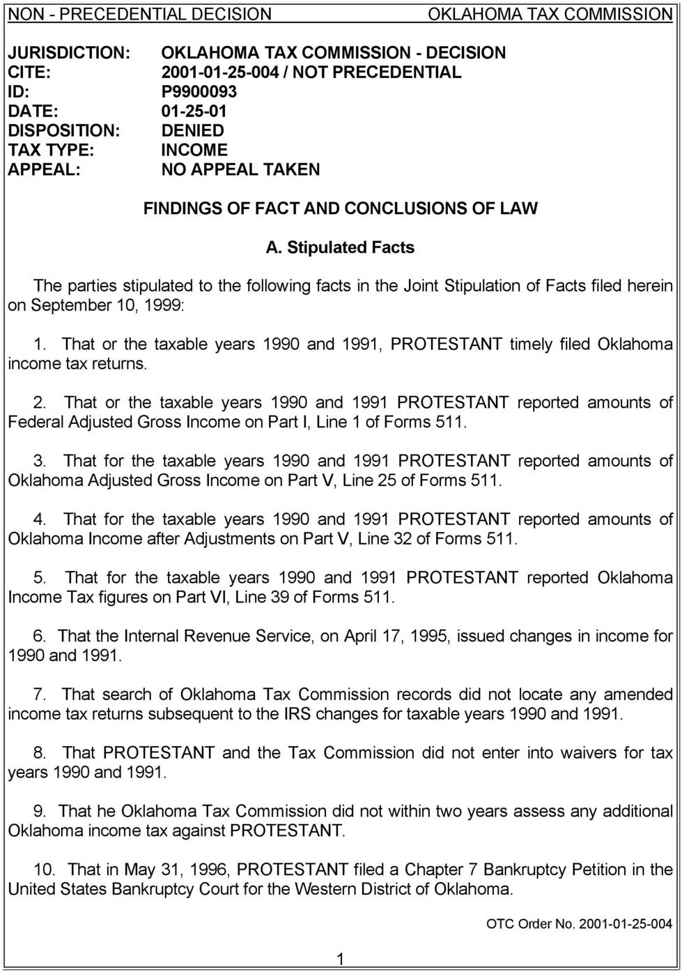 Chapter 7 Bankruptcy Forms Oklahoma