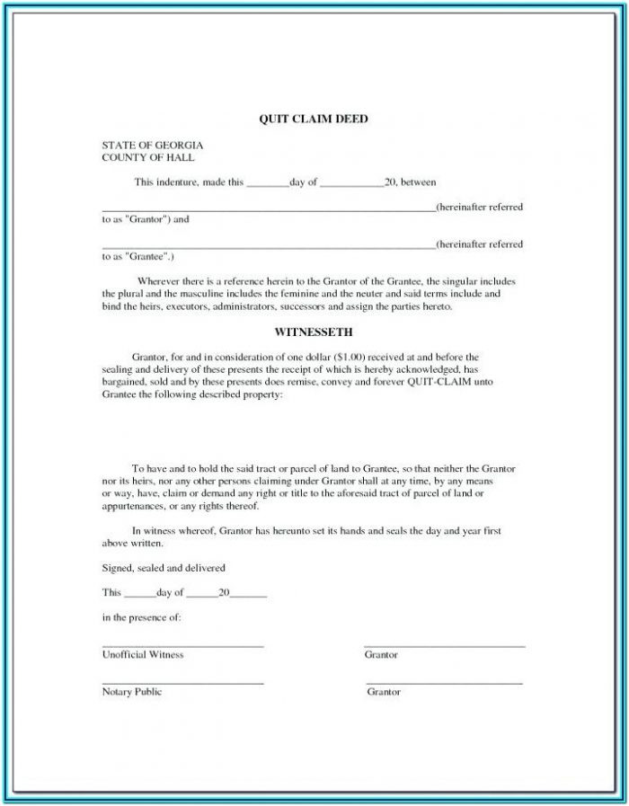 Free Online Quit Claim Deed Form