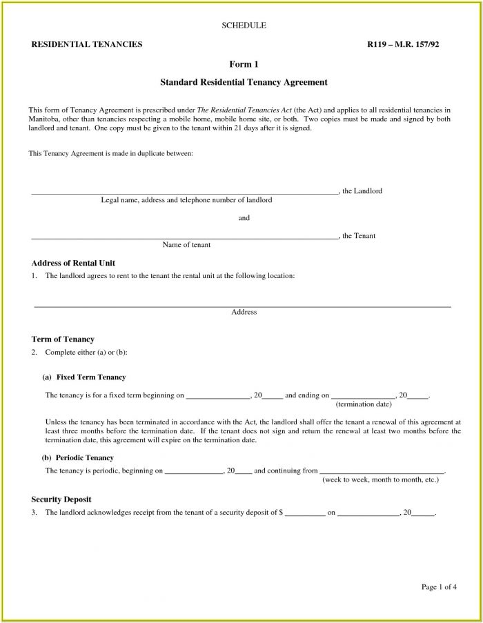 Landlord Rental Agreement Form
