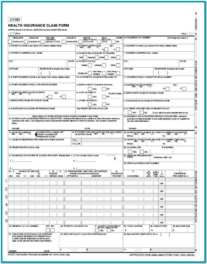 Medicare Claim Forms To Download