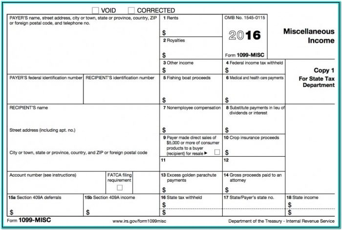 Tax Form For 1099 Employee